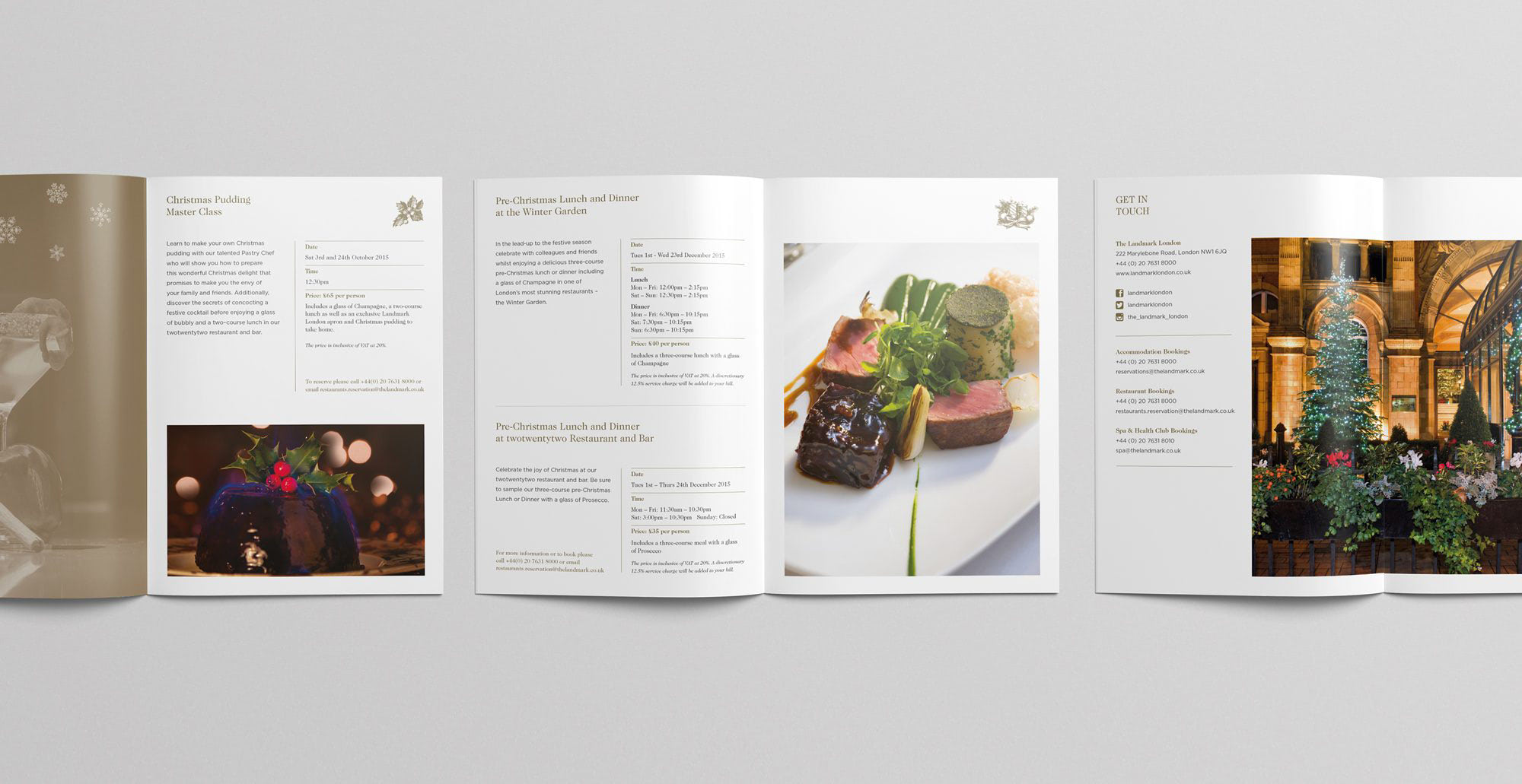 Fuse Design Ltd - Hotel Christmas Brochure Design
